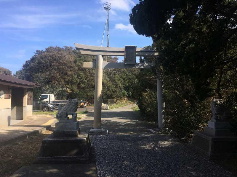 石室神社の鳥居